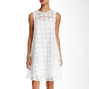 Donna Morgan Sleeveless Circle Lace A-Line Dress